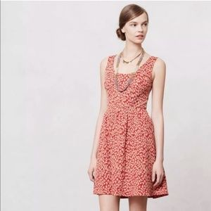 Maeve Anthropologie Caldera Dress Animal Print